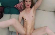 Skinny German girl Sonja anal