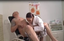 Lucky guy fucks hot nurse
