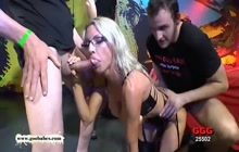 German guys gangbanged hot MILF Emma Starr