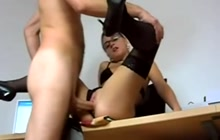 Horny teacher in stockings needs hard fucking