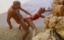 Beach sex with German couple
