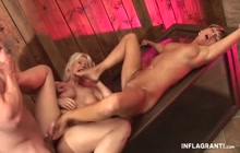 German feet fetishist sluts have threesome sex